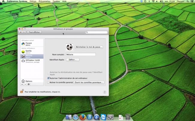 Contrôle parental sous Mac OS X Maverick