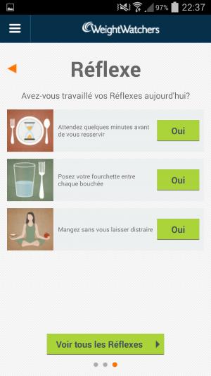 """""""Réflexes"""" sur l'application mobile"""