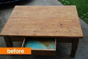 Une table récupérée
