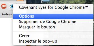 Nouveau bouton dans Chrome