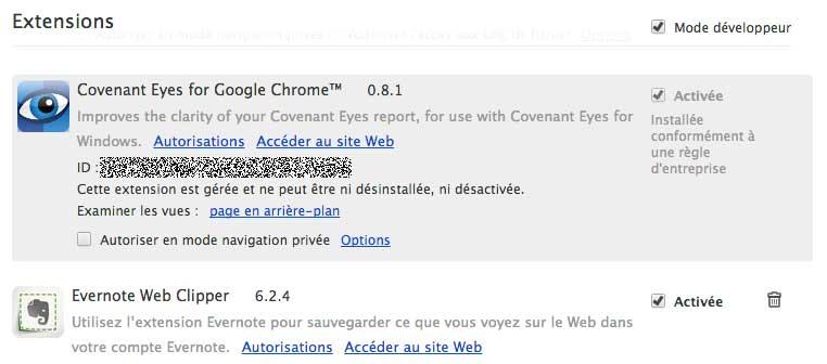 Extension Chrome difficile à supprimer